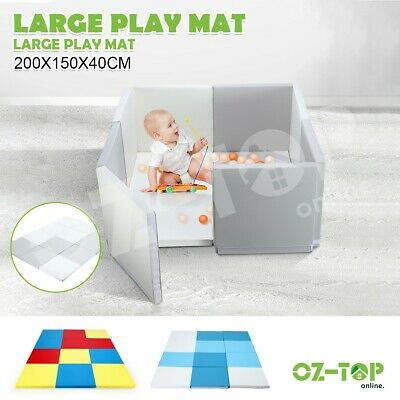 Kidbot Colourful Baby Foam Play Mat Playpen with Thick Padding Folding Sofa