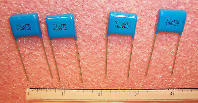 10 .47uf  200V 10/% METALLIZED POLYESTER FILM CAPACITORS TECATE QTY