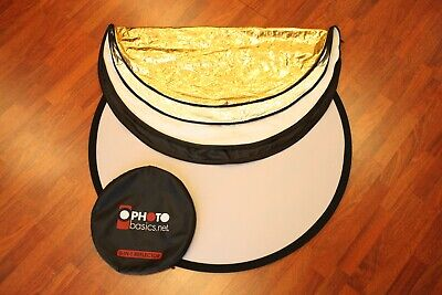 "Excellent Photo Basics 5-in-1 Collapsible Circular 42"" Reflector #31441"