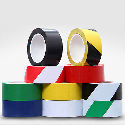 Warning Hazard Barrier Self Adhesive Safety Tape PVC Roll Multi Color Optional