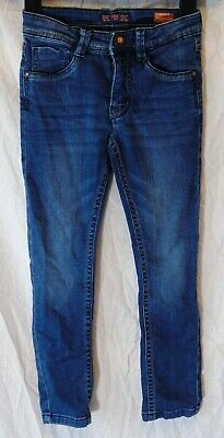 Boys Cars Blue Whiskered Soft Denim Adjustable Waist Regular Jeans Age 6 Years