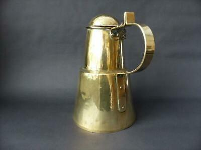 Arts & Crafts Movement, Hand Beaten Large Pitcher / Jug With Attached Lid