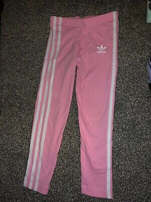 Girls Adidas Pink Leggings Size 4-5 Years Worn Couple Of Times