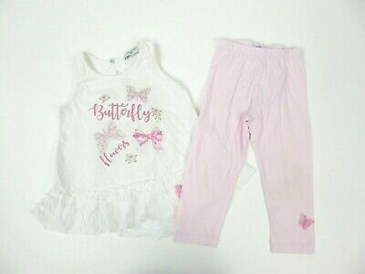 Girls Monnalisa Dress Top & Leggings Set Age 3 Yrs