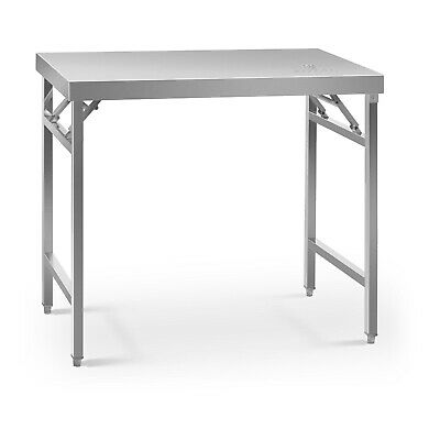 Stainless Steel Folding Work Table Portable Worktop Catering 60x100cm 200kg