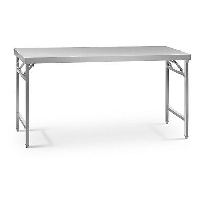 Stainless Steel Folding Work Table Portable Worktop Catering 60x180cm 230kg