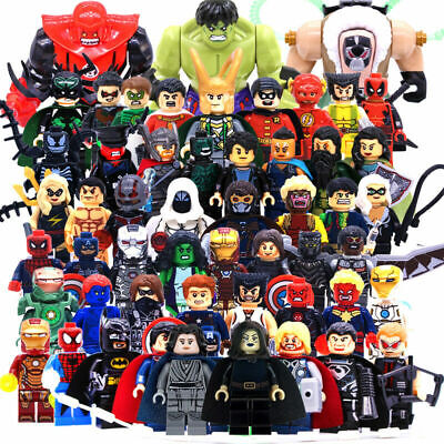 Marvel Avengers Minifigures Iron Man Thanos Venom Super Heroes DC Blocks