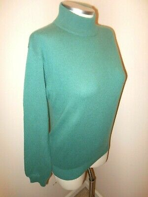 Charter Club Womens Cashmere Turtle Neck Sweater Small Green