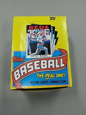 1986 Topps Baseball Wax Pack Box with 36 Packs