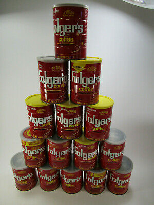 Vintage Folgers Coffee Cans Lot of 15 small 16oz size Big Lebowski