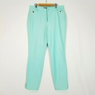Ivanka Trump Women's Size 6 Aqua Crop Pants