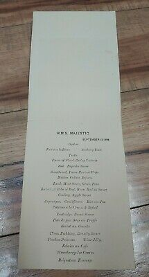 Majestic White Star Line RMS SS Menu Rare 1896 Picture Cevic