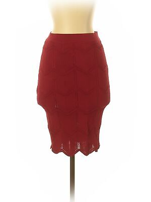 Lucy Paris Women Red Casual Skirt S