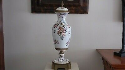 "18th Century 22"" Sevres Urn w/ Musical and Floral Motif. Sevres Mark, Initialed"