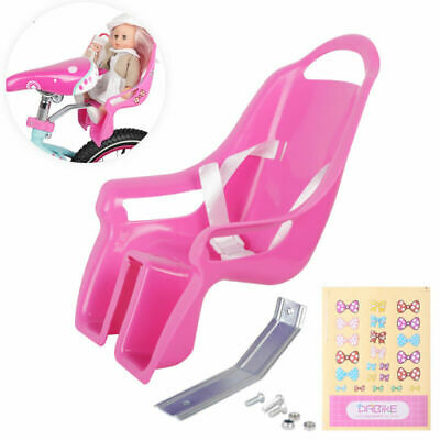 DrBike Bike Doll Carrier Seat with DIY Stickers, Kids Bike Accessories for Girls