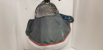 Chicco Stroller Model 10840 Infant Fabric Canopy Hood SunShade Visor Orange Gray