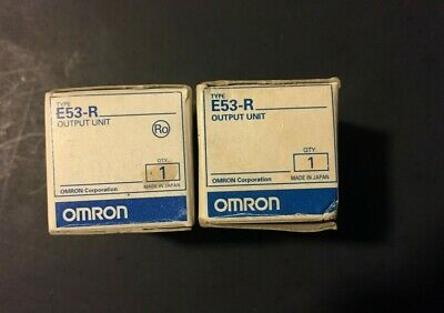 *New* Omron E53-R Temp Control Output Relay Unit (Lot Of 2) *In Box*