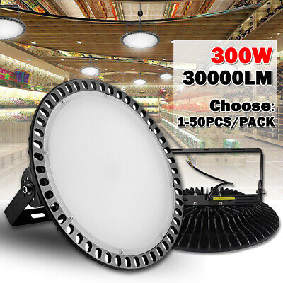 300W UFO LED High Bay Light Factory Warehouse Industrial Shed Lighting lot