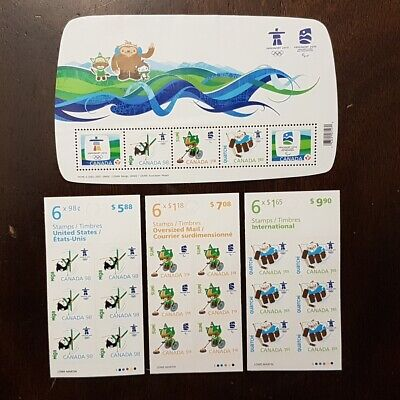 CANADA POST 2010 Vancouver Olympics Stamps Set Face Value $28+  (A38-1)