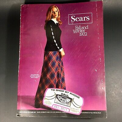 Vintage Sears 1972 Fall and Winter Catalog~Los Angeles CALIFORNIA Edition 1125 p