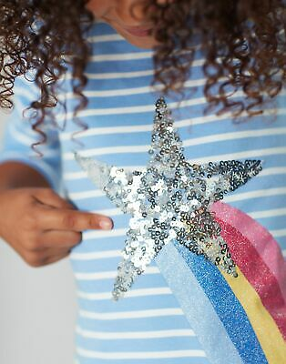 Joules Girls Harbour Luxe Top  - BLUE SHOOTING STAR
