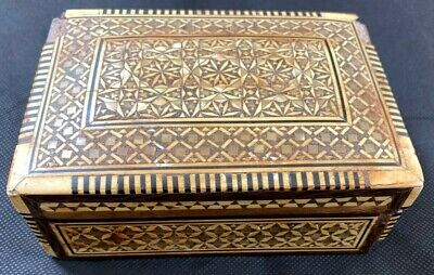 Antique Wooden Jewellery Box Intricate Decoration Woodenware Decorative