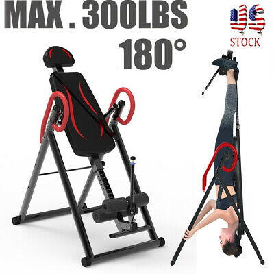 Gravity Inversion Table Foldable Body Back Neck Exercise Therapy Bench USA