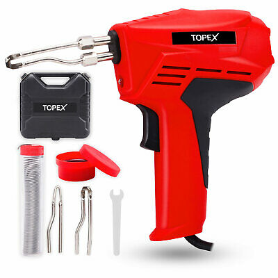 Topex Heavy Duty Soldering Gun Iron Kit Fast Heating Hot Knife Plastic Foam Cut