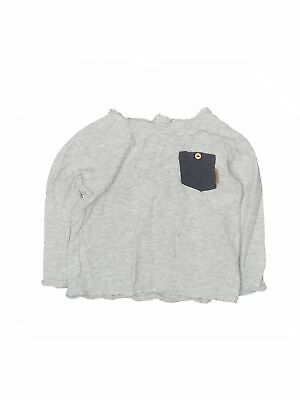 Zara Baby Pink Grey Stripe Sweater with Zipper Top Clothes Brand New 12-18