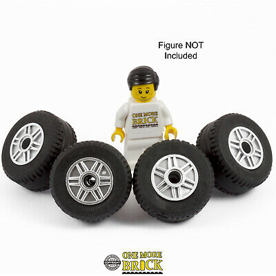 with Axles Big thick tyres /& wheels LEGO Large Tire Pack of 4 3cm