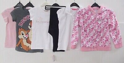 6 x Girls Barbie Hoodie Chip & Dale Pineapple T-Shirt Top Mixed Bundle Age 7-10