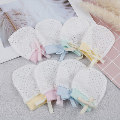 1Pair Newborn Baby Mittens Baby Cotton Anti Scoring Gloves Boy Girl Accessor MO