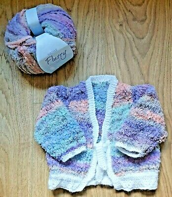 BRAND NEW - Baby Girl Hand Knitted Multi Colour Tie Cardigan Age 0 - 6 Months