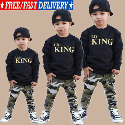 AU Toddler Infant Baby Boys Camo Hoodie Long Pants Outfits Clothes Set Tracksuit