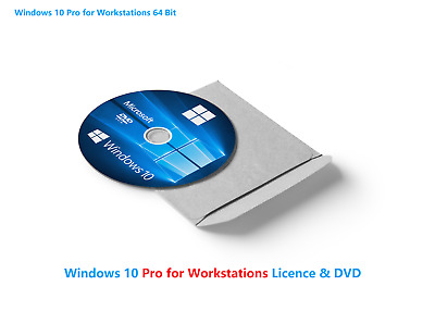 Windows 10 PRO FOR WORKSTATIONS License & Bootable 64-bit Installation CD DISC