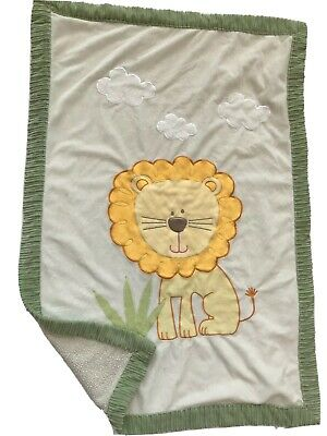 Little Miracles Blanket Lion Clouds Sherpa Plush Baby Crib Comforter Boy Throw