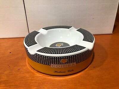 Cohiba Cigars Large Ceramic Ashtray for Patio / Outdoor Use 4 Cigar rests