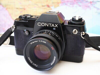 Contax 137 MD Quartz 35mm Film Camera W/ Planar T* 50mm 1:1.7 Lens WORKS TESTED