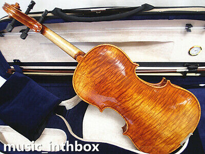 Antique 4/4 One Piece flamed Back Violin with wittner fine tuner+Bow+Case #AQ99