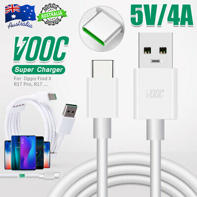 Genuine OPPO VOOC Type-C Fast Charger Charging USB Cable Find X R17 Pro Reno Z