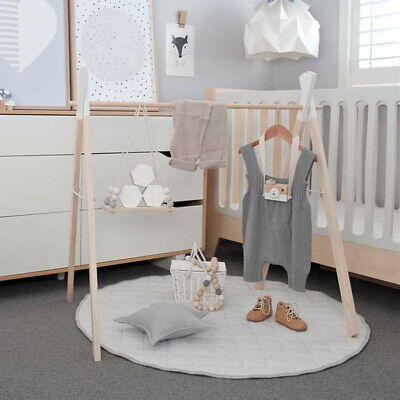 Wooden Baby Activity Gym Play Toys Leaning Fun Hanging Decor Gift Baby Gym Toy