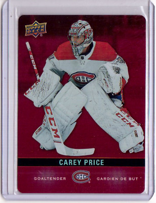 CAREY PRICE 2019/20 Upper Deck Tim Hortons Red Parallel Die-Cut #DC-14 Canadiens