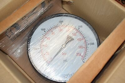 NEW Wika 231.11 50081799 10'' 3000 PSI 1/2'' Pressure Gauge