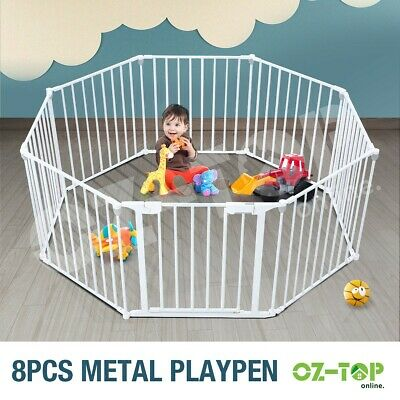 Metal 3-in-1 Pet Kids Children Baby Safety Playpen with Double Locking System