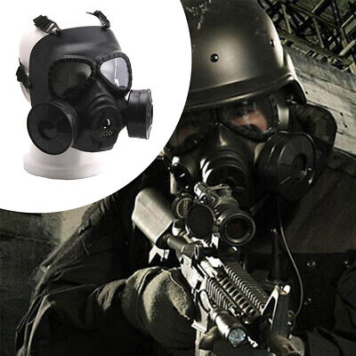 Double Filter Gas Mask Anti Dust Airsoft Paintball CS Game Field Protective UK