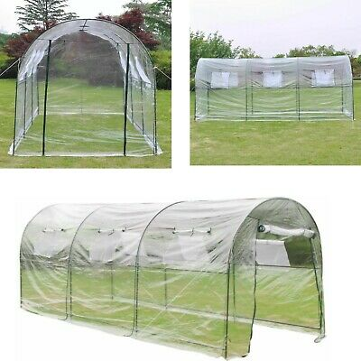 Large Walk-in Greenhouse Poly Tunnel 4 Portable Gardening Vegetable Plant Grow