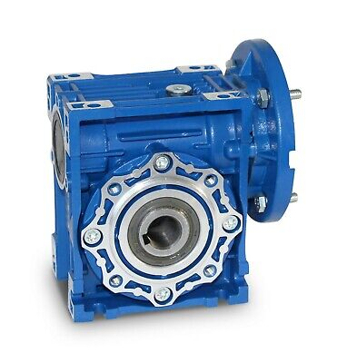 Size 75 Right Angle Worm Gearbox Speed Reducer 28Mm Bore Various Ratios Nmrv