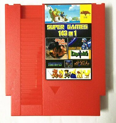 143 in 1 Classic NES Nintendo Multi Cartridge Zelda Contra Mario Save Feature
