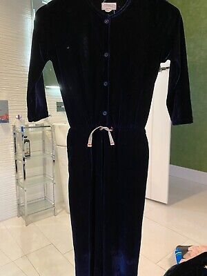 Johnnie B Boden Navy Velvet Jumpsuit Age 9-10 Girls