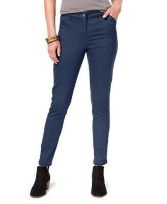 Style&Co Petite Stretch Skinny Ankle Crop Pants Blue Womens 12P NWT